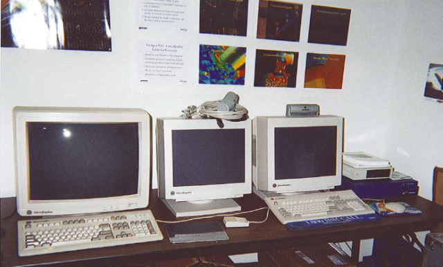 SGI Workstations in an early Pointwise office