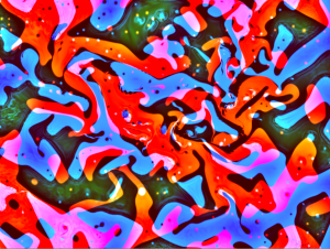 Screen capture of WebGL-based fluids simulation