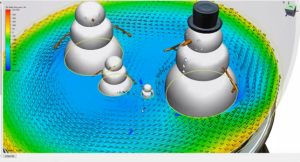 CFD inside a snow globe form Autodesk.