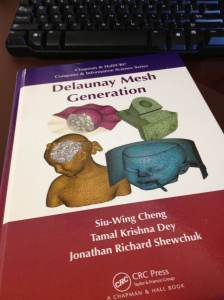 Have you purchased your copy of the new Delaunay Mesh Generation book by Cheng, Dey, and Shewchuk?