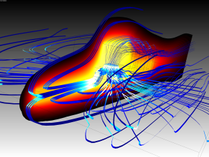 From the Mentor Graphics CFD blog, the heat flux through a surface-mounded TO263.