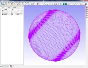 Figure 2: Simplified baseball geometry was easier to mesh.