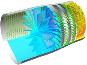 Time accurate simulation of a multistage fan. Simulation by BYU. Image from Intelligent Light.