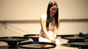 Lisa Park performing Euonia. Image from Colossal.