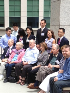 The guests of honor (front row), symposium organizers, and other guests at the JRV Symposium.