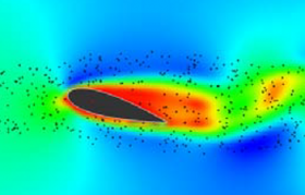 Airfoil simulation done on a GPU. Image from NVIDIA.