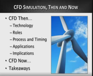 Screen capture from a video on CD-adapco's website of Chad Jackson talking about CFD Simulations Then and Now