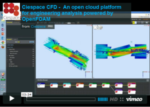 Screen capture of a video demonstrating the Ciespace platform.