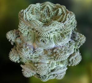 Mandelbulb Fractal. I have no idea. Image from Complex Projective 4-Space.