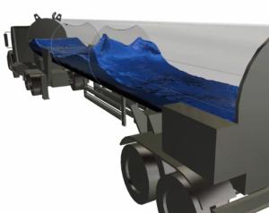 Tank sloshing simulation performed using Autodesk Simulation CFD 2014.
