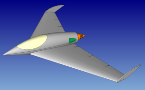 Figure 1: The IMR Meshing Contest involved this CAD model of a UAV.