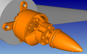 Figure 2: The CAD geometry of the UAV's motor required some cleanup before meshing could begin.