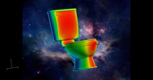 CFD simulation of a toilet at Mach 0.8 performed by GoVirtual using Pointwise, CFD++, and FieldView. Included here just because.