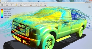 Simulation results from Autodesk Flow Design. Image from Autodesk.