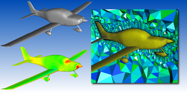 Pointwise was used to automatically generate an unstructured volume mesh for an OpenVSP model. The CFD solution for the Cirrus SR22 aircraft was computed using OpenFOAM.