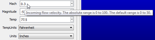 Example of a numeric range tooltip in Pointwise