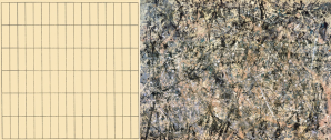 Agnes Martin (left) vs. Jackson Pollock (right) - Structured vs. Unstructured