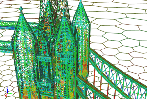 Gotta love Symscape's polymesh for the Tower Bridge geometry - the IMR's meshing contest geometry for this year. (Click image for article.)