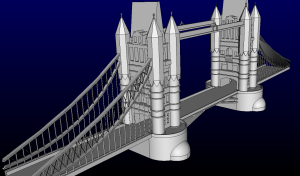 This year's International Meshing Roundtable meshing contest is London's Tower Bridge.
