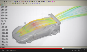 Screen capture from a video about the partnership of ANSYS and Ferrari. Click image for video.