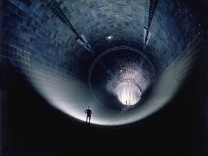 The scale of AEDC's supersonic wind tunnel is impressive as evidenced by this vintage photo. Image from FYFD.