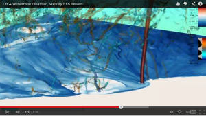 Very cool video of a simulation of a long-duration EF-5 tornado. Click image for article.
