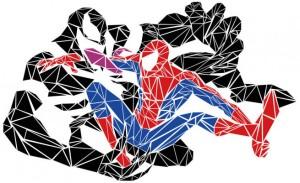 Spider Man vs. Venom. Because mesh. Click for source.