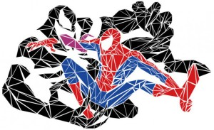 Spider Man vs. Venom. Because mesh. Click for source.