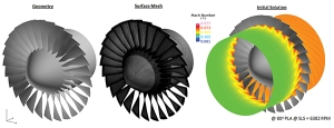 Geometry, mesh, and CFD solution. Image from Aviation Week.