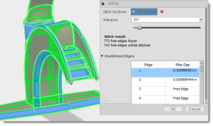 Preview of Autodesk's Project Arro, specifically the stitch function for finding gaps in geometry. See link above.