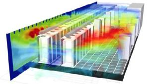 CFD modeling of data centers. Image from Data Center Knowledge. See link above.