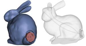 Meshmixer 2.6 was released earlier this month and includes a feature for adding tubes to your 3D models so you can print a Stanford Bunny that shoots water from its eyes. Image from Autodesk 123D blog. Click image for article.