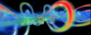 Screen capture from the video of vortical flows. See link above.