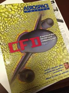 Congratulations to our friends at CD-adapco for their image on the cover of the January 2015 issue of Aerospace America which features cover story on CFD.