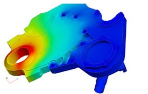 NX simulation results. Image from Siemens PLM.