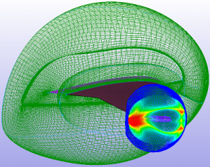 The new overset Examine diagnostic in Pointwise shows fringe/donor volume ratio in this example of an aircraft wing. See link below.