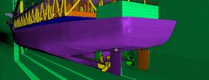 This image of a ship hull's mesh is from MarineLink.com and was generated using CD-adapco's tools. See link below.