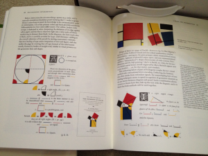 Envisioning Information, 1990. Love seeing a Mondrian tossed in to this illustration of geometric principles.
