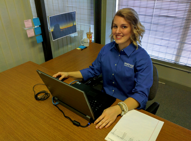 Madison Goodwin, Business & Administrative Services Intern.