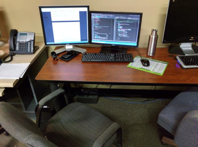 Philip's current workspace.