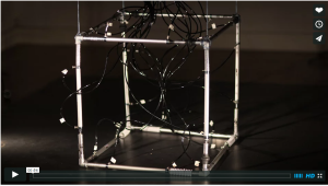 Screen capture of 1024 architecture's video The Walking Cube. Click image for video.