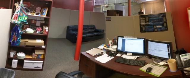 David's current workspace.