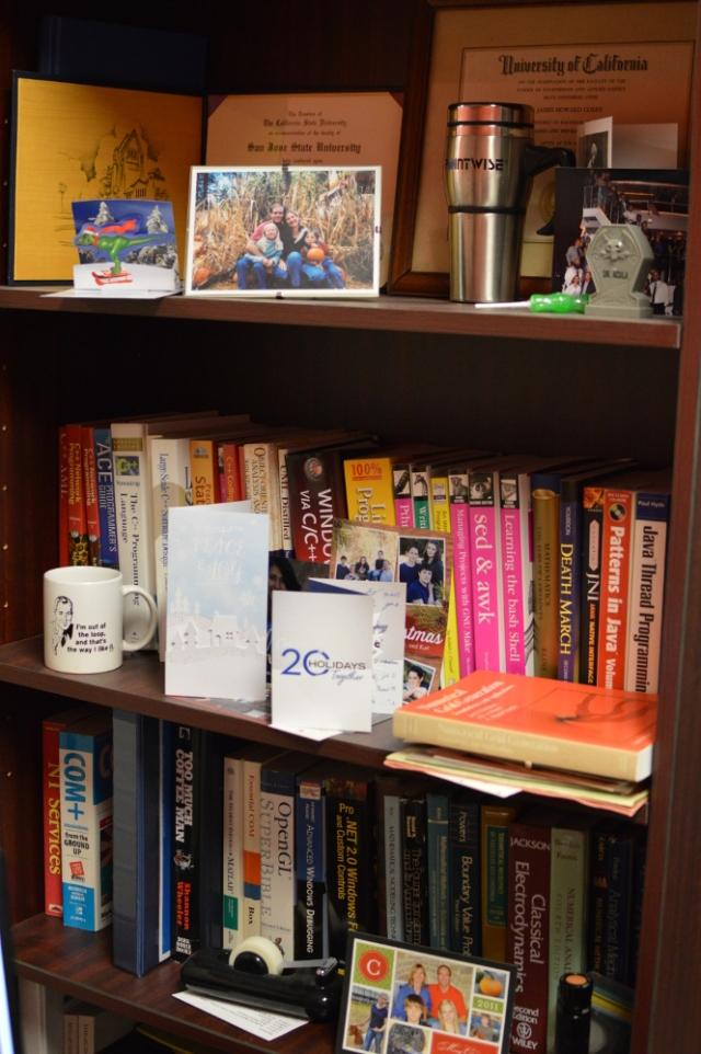Jim's bookshelf.
