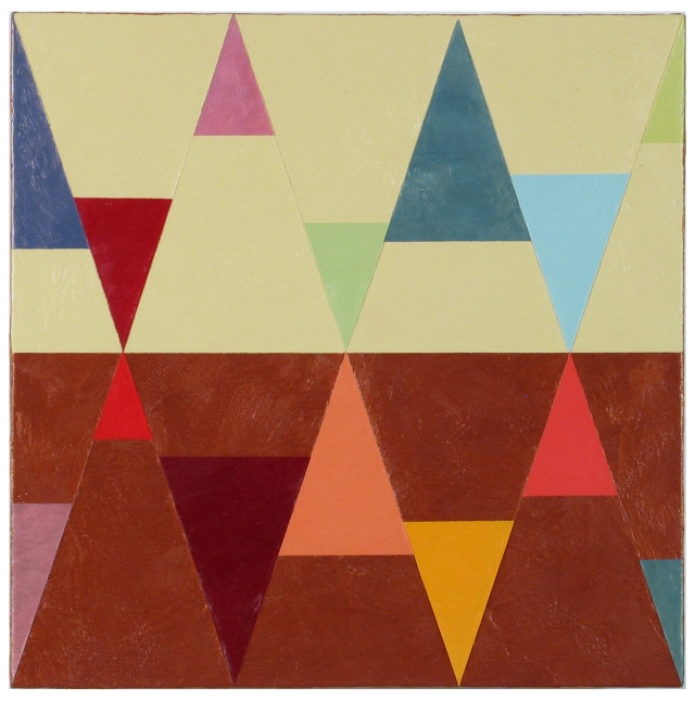 Joanne Mattera, Chromatic Geometry 22, 2015. Image from artist's website. See link above.