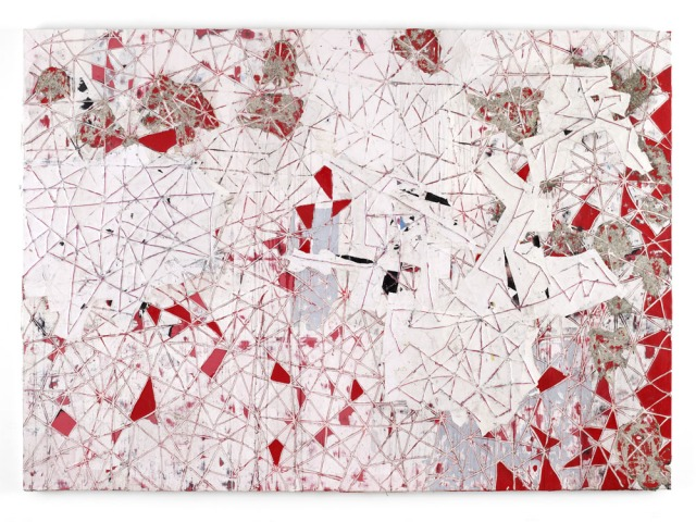 Mark Bradford, Red Painting, 2009. Click image for source.
