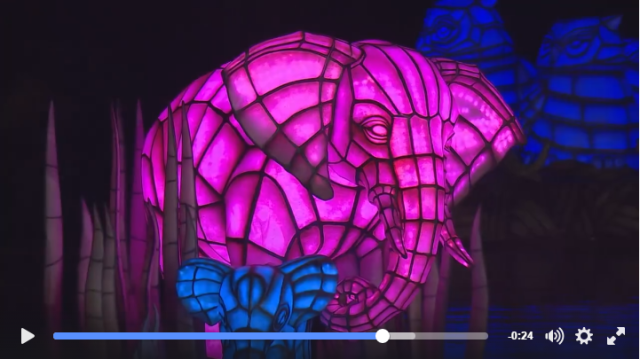 Screen capture from a Disney Imagineering video showing how the floating lanterns from the new Rivers of Light attraction were created. Click image for video on Facebook.