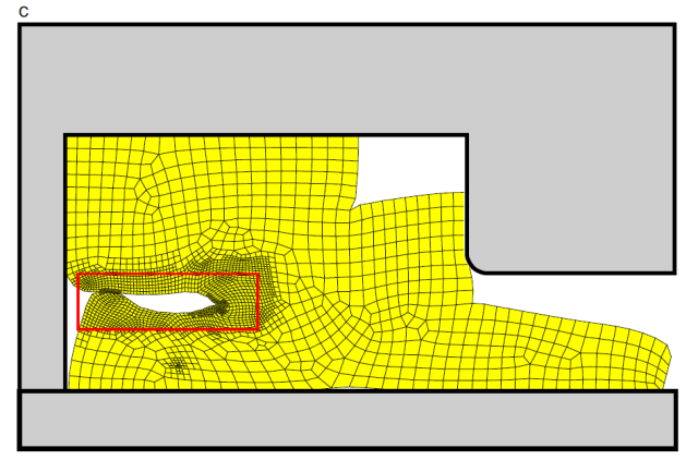 FEA of rubber mounts using local remeshing in MSC's software. Image from MSC. Click image for article.