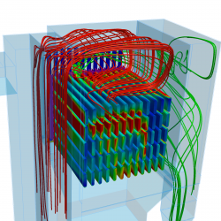 OpenFOAM was used as part of the simulation of flow through air filter bags. Image from engineerlive.com. Click image for article.