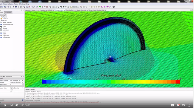 In this 4 minute video, FLO Cycling describes their use of CD-adapco's CFD software to design new wheels that are faster and lighter. Click image for video.