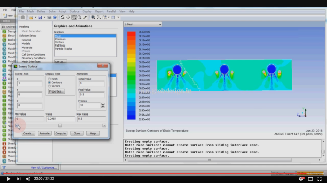 This is a screen capture from a video on the CFD Expert YouTube channel about simulation airflow through a factory using Fluent. Click image for video.